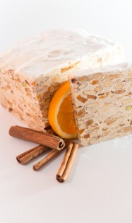 Orange and cinnamon nougat